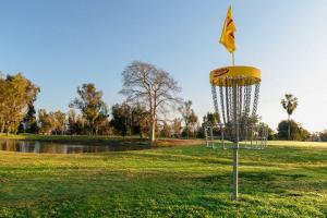 Innova DISCatcher basket on a disc golf course