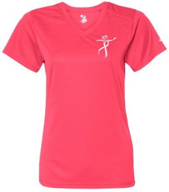 Throw Pink Ladies Core Performance V-Neck