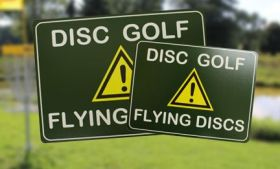 Disc Golf Attention Sign