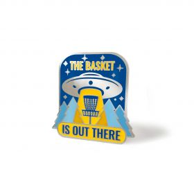 The Basket Is Out There Disc Golf Pin