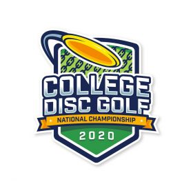 College Disc Golf National Championship 2020 Sticker