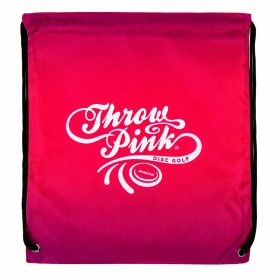 Throw Pink Drawstring Bag