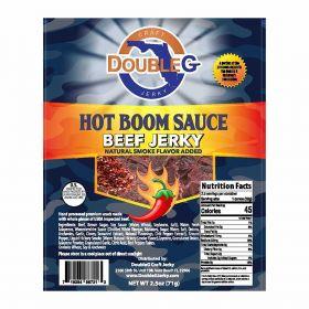 DoubleG Craft Beef Jerky Hot Boom Sauce