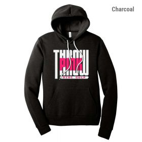 Throw Pink Unisex Fleece Hoodie