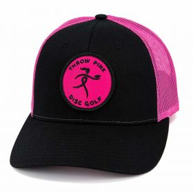 Throw Pink Ribbon Girl Patch Hat