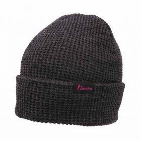 Throw Pink Waffle Knit Beanie