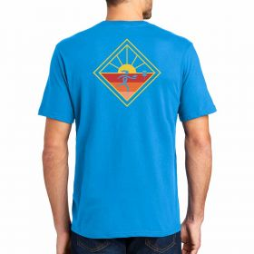 Throw Pink Mens Horizon Diamond Tee